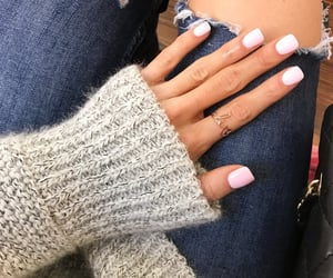 denim, knit, and nails image