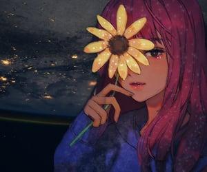 anime, anime girl, and digital art image