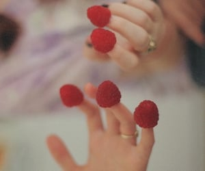 raspberry, red, and fingers image