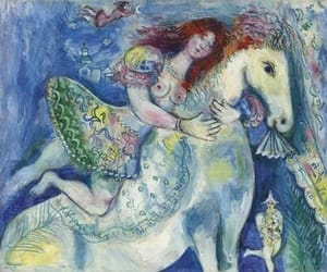 art, girl, and horse image