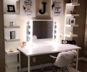 beauty, mirror, and makeup image