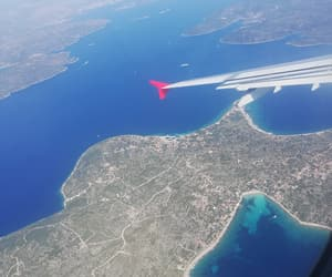 airplane, sea, and Croatia image