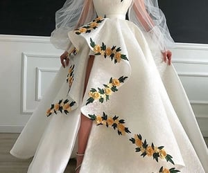 ball gown, Prom, and white image