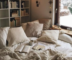 bedrooms, books, and cozy image
