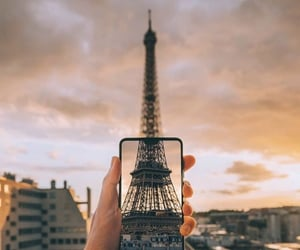 art, photography, and eiffel tower image