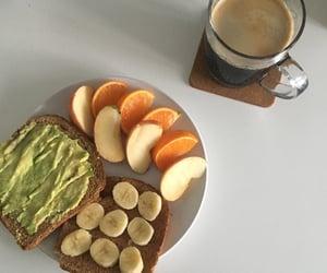 apple, breakfast, and avocado toast image
