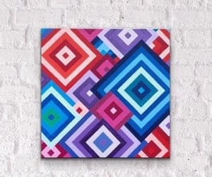 Abstract Painting, hand made, and canvas painting image