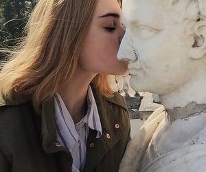 girl, grunge, and kiss image