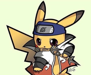 naruto, cute, and pikachu image