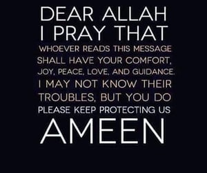 allah, message, and ameen image