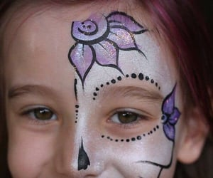 Halloween, kids, and painting image