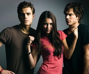damon, elena, and paul wesley image
