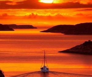 sea, sunset, and beautiful image