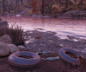 fallout, reeds, and river image
