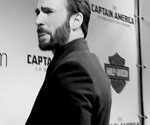black and white, charm, and chris evans image