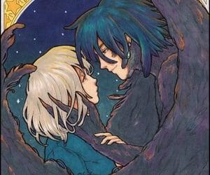 blue, couple, and ghibli image