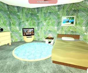 beach, bedroom, and roblox image