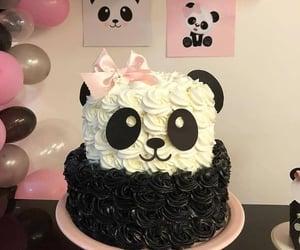 birthday, cake, and panda image