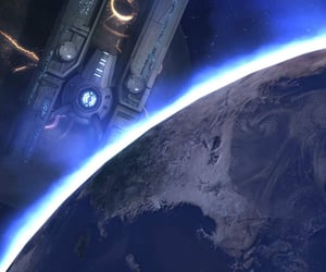 blue, Hyperion, and sci-fi image
