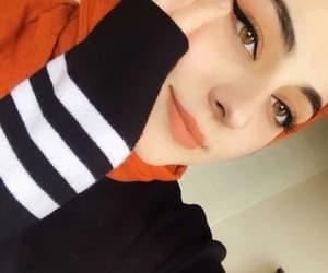 fashion make up, hijab حجاب محجبات, and black white colours image