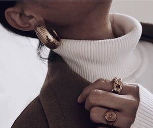 earring, girl, and fashion image