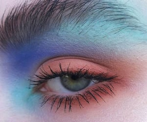 makeup, blue, and girl image