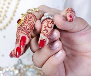 couple, holding hands, and jewellery image