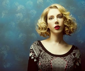 blonde, katherine ryan, and curly hair image