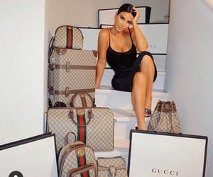 bags, gucci, and black dress image