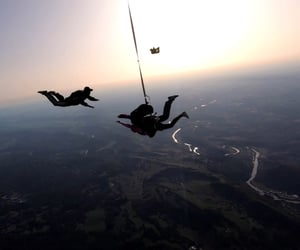 Dream, happy, and parachute image