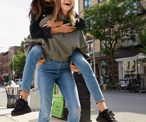 best friends, jeans, and bffs image