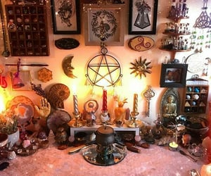 altar, cottage, and magick image