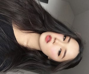 asian girl, hairstyle, and makeup image