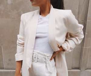 blazer, look, and off white image