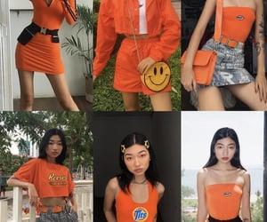 orange, street fashion, and thrifted image