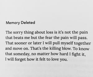 fear, forget, and heartbroken image