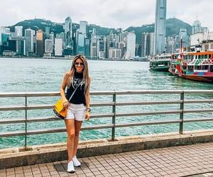 asia, skyline, and hong kong image