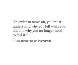feelings, move on, and quote image