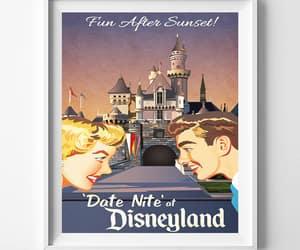 artwork, date nite, and disneyland vintage image