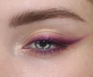eye, makeup, and beautiful image