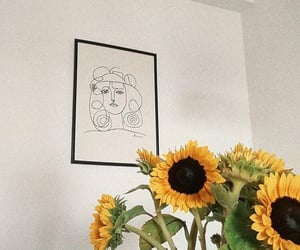 aesthetic, plants, and sunflowers image