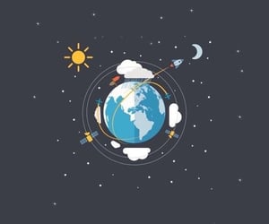 art, draw, and planets image