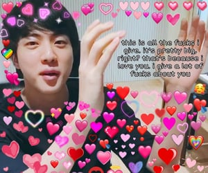 heart, jin, and kpop image