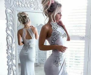 prom dresses, open back prom dress, and prom dresses with split image