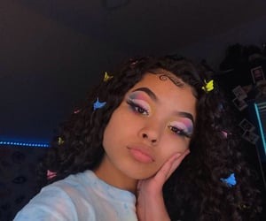 alternative, colorful, and curly hair image