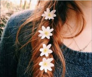 aesthetic, braid, and floral image