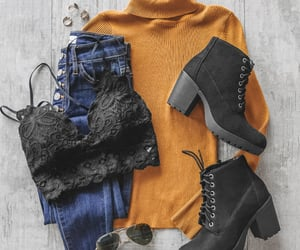 casual, fashion, and fall outfit image
