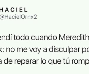 frases, meme, and meredith image