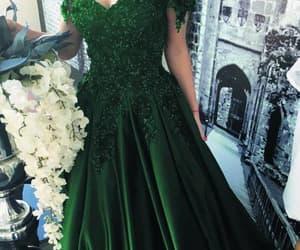 satin dress, prom gown, and vestido de festa image