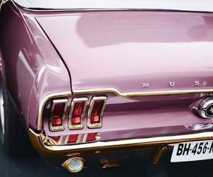 car, pink, and mustang image